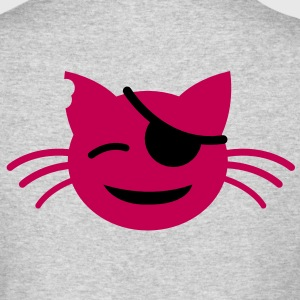 pirate pussy cat with cute little eye patch Long Sleeve Shirts - Men's Long Sleeve T-Shirt by Next Level