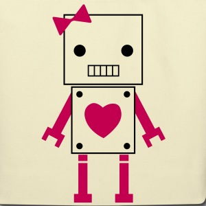 girl robot Bags  - Eco-Friendly Cotton Tote