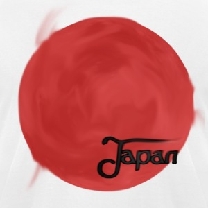 Japan Flag Artwork T-Shirts - Men's T-Shirt by American Apparel