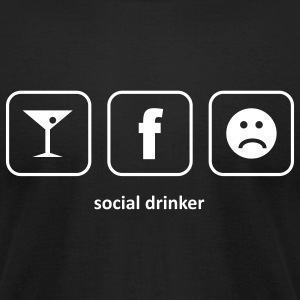 Social Drinker T-Shirts - Men's T-Shirt by American Apparel