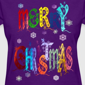 A Very Colorful Merry Christmas - Women's T-Shirt