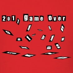 tee game over 2011 happy new year 2012 christmas