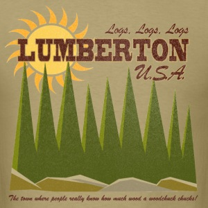 Lumberton, USA [Blue Velvet] T-Shirts - Men's T-Shirt