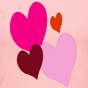 Hearts Valentine Ladies Shirt - Women's Long Sleeve Jersey T-Shirt