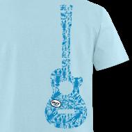 Design ~ mvyradio Blue Lobster Guitar - vertical