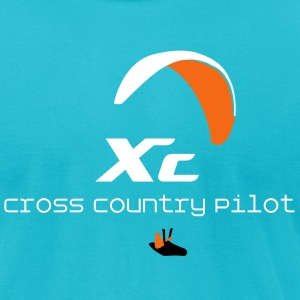 Paraglider Cross Country T-Shirts - Men's T-Shirt by American Apparel