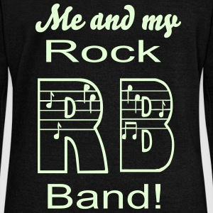 Me and up rock band glows in the dark - Women's Wideneck Sweatshirt