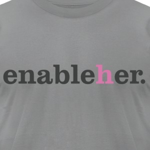 enableher for him t-shirt - Men's T-Shirt by American Apparel