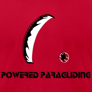 Powered Paragliding T-Shirts - Men's T-Shirt by American Apparel