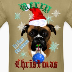Wonderful Christmas Boxer Dog