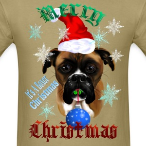 Wonderful Christmas Boxer Dog - Men's T-Shirt