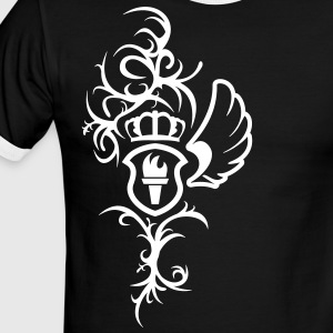 Tribal Wing, Crown and Shield  - Men's Ringer T-Shirt