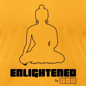Enlightened by RdubC - Black Graphic - Men's T-Shirt by American Apparel