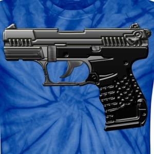 Weapon in cool 3d and metallic look with many details. T-Shirts - Unisex Tie Dye T-Shirt