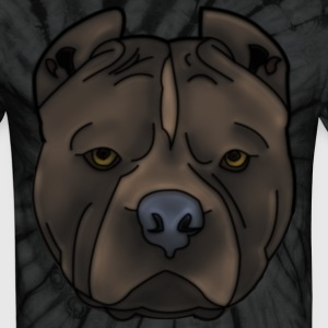 Pitti Pitbull head with many details T-Shirts - Unisex Tie Dye T-Shirt
