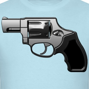 Revolver with many details in metallic look T-Shirts - Men's T-Shirt