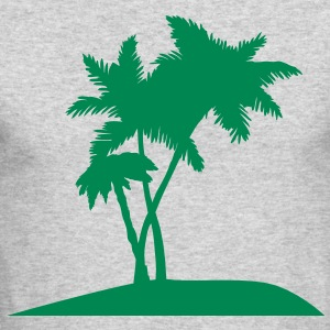 palm trees darr Long Sleeve Shirts - Men's Long Sleeve T-Shirt by Next Level