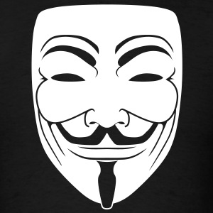 Anonymous Guy Fawks Mask _v1 1_Color Vector - Men's T-Shirt