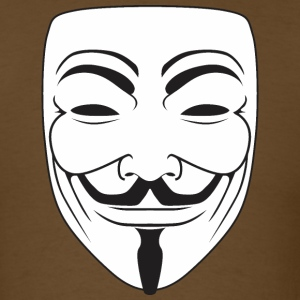Anonymous Guy Fawks Mask _v3 Raster T-Shirts - Men's T-Shirt