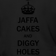 Design ~ Mens Zip Hoodie: Jaffa Cakes/Diggy Holes