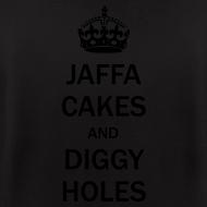 Design ~ Mens Zip Hoodie: Jaffa Cakes/Diggy Holes