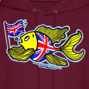 British Fish with a Union Jack Flag - Men's Hoodie