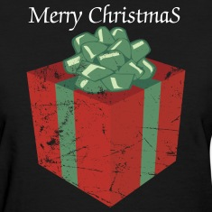 Vintage Christmas Present and Holiday Gift Package Women's T-Shirts