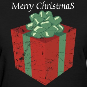 Vintage Christmas Present and Holiday Gift Package Women's T-Shirts - Women's T-Shirt