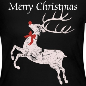 Vintage Christmas Rudolph the red nose Reindeer Long Sleeve Shirts - Women's Long Sleeve Jersey T-Shirt