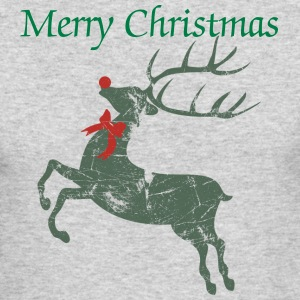 Vintage Christmas Rudolph Reindeer  Long Sleeve Shirts - Men's Long Sleeve T-Shirt by Next Level