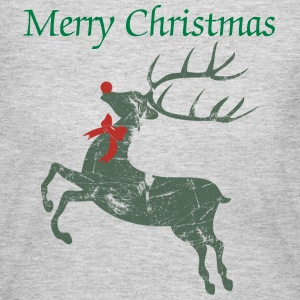 Vintage Christmas Rudolph Reindeer  Long Sleeve Shirts - Women's Long Sleeve Jersey T-Shirt