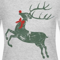 Vintage Christmas Rudolph Reindeer  Long Sleeve Shirts