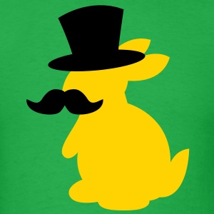 TOP HAT MOUSTACHE BUNNY T-Shirts - Men's T-Shirt
