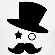 top hat and monocle with mustache T-Shirts