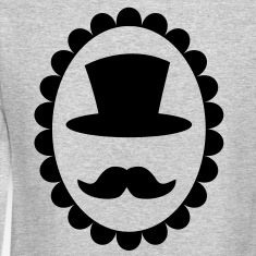 Top hat on a cameo with a moustache Long Sleeve Shirts