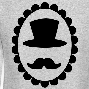 Top hat on a cameo with a moustache Long Sleeve Shirts - Crewneck Sweatshirt