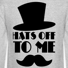 HATS OFF TO ME moustache and top hat Long Sleeve Shirts