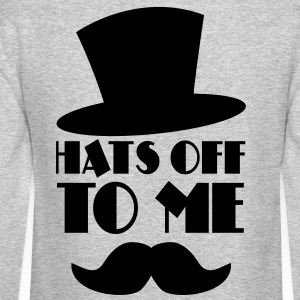 HATS OFF TO ME moustache and top hat Long Sleeve Shirts - Crewneck Sweatshirt