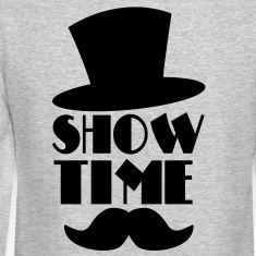 SHOW TIME MAGIC hat and moustache Long Sleeve Shirts