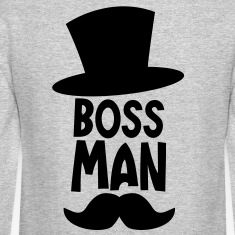 BOSS MAN moustache Long Sleeve Shirts