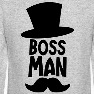 BOSS MAN moustache Long Sleeve Shirts - Crewneck Sweatshirt