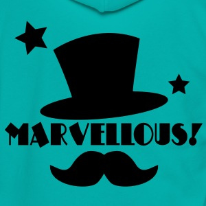 marvellous! Top hat and mustache Zip Hoodies/Jackets - Unisex Fleece Zip Hoodie by American Apparel