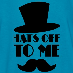 HATS OFF TO ME moustache and top hat Kids' Shirts - Kids' T-Shirt