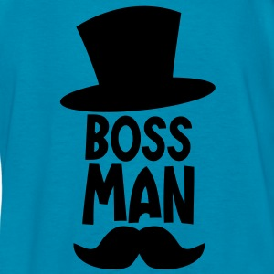 BOSS MAN moustache Kids' Shirts - Kids' T-Shirt