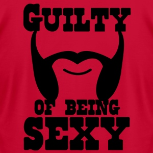 guilty of being sexy mutton chops T-Shirts - Men's T-Shirt by American Apparel
