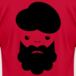 TURBIN MAN with beard angry T-Shirts - Men's T-Shirt by American Apparel