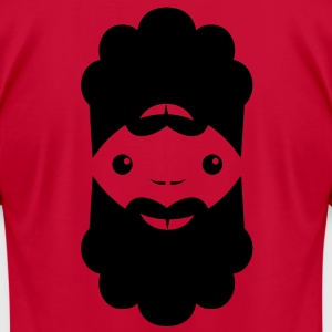 Dual beard man can look good upside down! T-Shirts - Men's T-Shirt by American Apparel