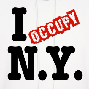 I Occupy New York Hoodies - Men's Hoodie