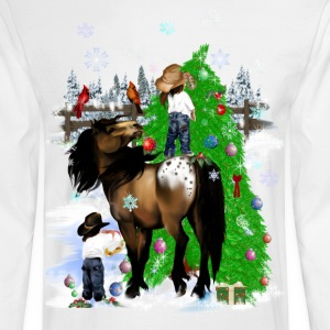 A Horse and Kid Christmas - Men's Long Sleeve T-Shirt