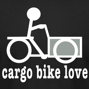 Trike Cargo Bike Love - Men's T-Shirt by American Apparel